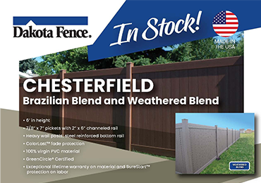Chesterfield Brazilian Blend and Weathered Blend Residential PVC Fence